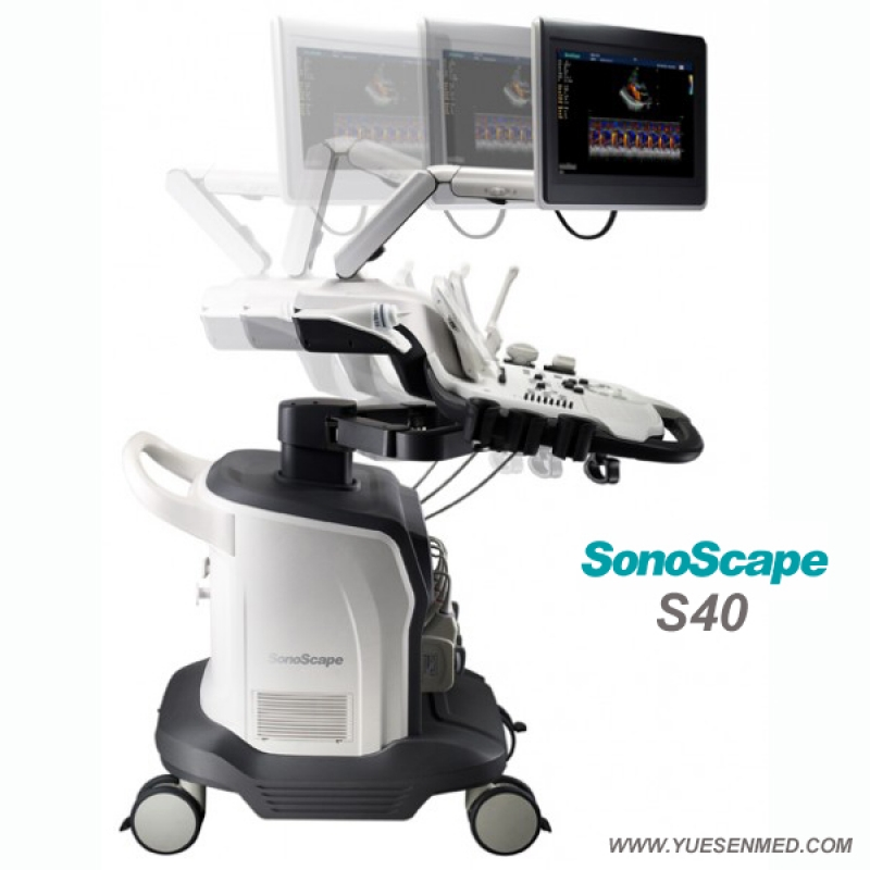 Trolley Color Doppler Ultrasound Machine SonoScape S40