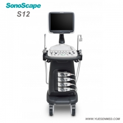 Color Doppler Trolley Ultrasound Machine SonoScape S12