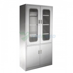 Medical Low Price Stainless Steel Veterinary double Apparatus Cabinet YSVET866102