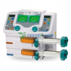 CE Approved Double Channel Syringe Pump With Drug Library YSZS-810TU