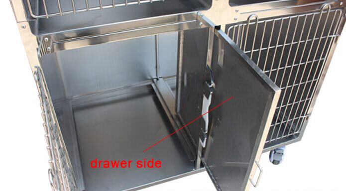 Veterinary Cage - Stainless Pet Combination Cage YSVET0510